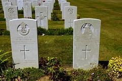 M.M. Symonds, Durham Light Infantry & D.C. Hammond, Royal Norfolk Regiment, War Grave, 1944, Bayeux (PaulHP) Tags: ww2 world war 2 headstone grave france bayeux military cemetery british normandy cwgc priavte mm melvern millerd symonds service number 14397465 7th august 1944 6th bn battalion dli durham light infantry joseph ada much marcle herefordshire lance corporal dc dennis clive hammond 14295516 1st royal norfolk frederick william louisa russell ruislip middlesex battle