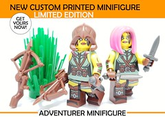 New Limited Edition Adventurer Minifig! (BrickWarriors - Ryan) Tags: lego custom minifig minifigure fantasy brick helmet weapon sword crossbow