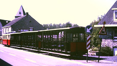 Slide 135-65 (Steve Guess) Tags: tram tramway streetcar strassenbahn strasenbahn трамвай nmvb sncv vicinal belgium belgique belgien belgië бельгия grottes han caves diesel ardennes hansurlesse