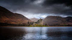 Enchanted castle x (Einir Wyn Leigh) Tags: landscape history scotland castle snow mountains lake water uk clouds storm outside colorful britain light travel
