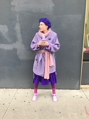 Day 7: Purple! (Selma Morgenstern) Tags: purple purpleclothes ootd outfit outfitdiary clothes secondhand thrifted color colorfuloutfit fallfashion streetstyle nyc