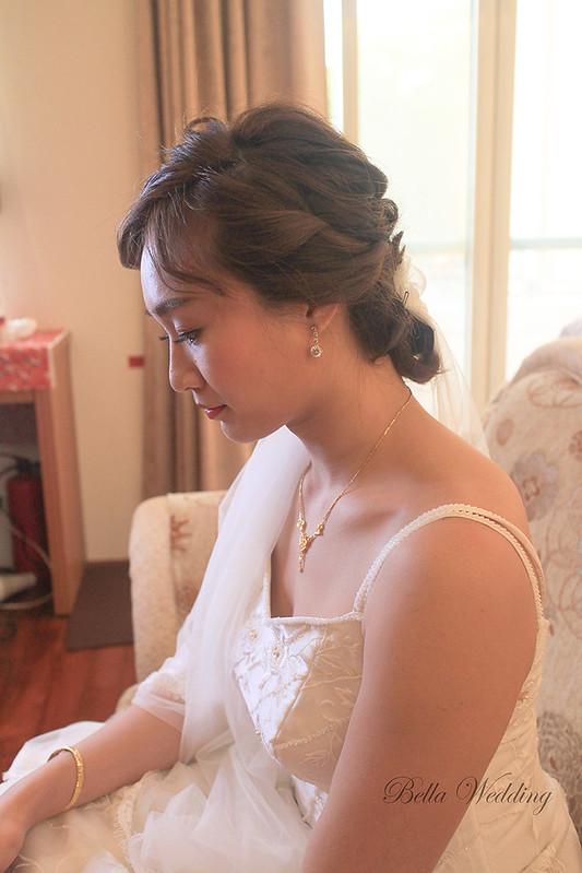 雲林新秘,北港新秘,新娘秘書,短髮新娘,精緻眼妝,韓式編髮,清透妝感