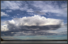 Fluff in the Sky (itsallgoodamanda) Tags: clouds sky shoalhaven seascape skyscape skyphotography bigsky sea seaside southcoast stgeorgesbasin seascapephotography earlymorning ocean photography photoborder fluffyclouds amandarainphotography australia australianlandscape australiassouthcoast summer2019 itsallgoodamanda jervisbayphotography jervisbay beach landscape landscapecoast coastallandscape coastal coastline coast calmocean stormclouds stormyseascape