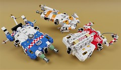 Various Variants   OHP-S (ORION_brick) Tags: lego render mecabricks space spaceship ship star starship build moc repair scan tug push paul pepera concept group photo hard scifi sci fi science fact elevator realistic