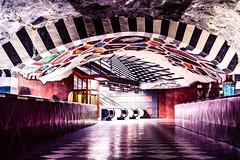 Stockholm's Amazing Metro System (benji.g) Tags: urban lifestyle sweden schweden stockholm subway clourful beautiful sony sonyalpha sonyalpha6300 sigma sigma30mm14 sigmadeutschland photography architecture bigcitylife