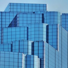 Stack of Shapes (2n2907) Tags: abstract glass building blue windows olympus omd mirrorless
