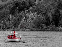 Red boat (gddik) Tags: llanberis northwales gwynedd boat lake water landscape