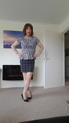 Ready for Saturday afternoon 💋 (helenwheninnylons) Tags: transgender crossdresser stockings heels