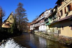 Kaysersberg (Haut-Rhin, F) (pietro68bleu) Tags: alsace maisonsàcolombages cascade europe france town ville eau ciel sky february