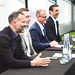 Hotel Football x Tribute press conference L-R Ryan Giggs, Mark James, Winston Zahra, Gary Neville