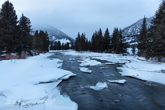 Slow Water (RH Miller) Tags: rhmiller reedmiller landscape water river gallatinriver winter snow montana usa