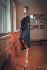 Nastya (alexanderbaranov1) Tags: portrait female woman young beautyful brunette studio ballet dancing