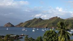 20190126_001_nuku_hiva_taiohae_bay_at_sunrise_1920_1080 (lindy_scuba) Tags: bay boat frenchpolynesia marquesas nukuhiva sailboat taiohae