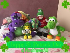 Happy St Patrick Day (plushloverau) Tags: cute dragon melissa doug plush plushie roar beautiful collection toy toys lover au plushloverau gunners english premier league epl dinosaur dino trex football rex arsenal fc england super mario build bear brothers bro nintendo buildabear green leopard zakumi fifa south africa world cup mascot 2010 dopey purple