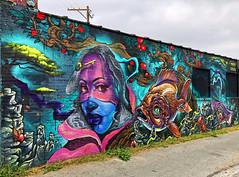 Sea Visions by Max Sansing, Bruno Smoky & Shalak Attack (wiredforlego) Tags: graffiti mural streetart urbanart aerosolart publicart chicago illinois ord maxsansing brunosmoky shalakattack