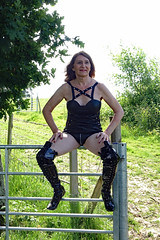 DSC02906a (swalsh58) Tags: mature outdoors farm sey leather boobs breasts naked bum