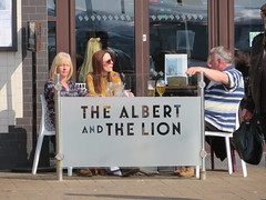 Albert and the Lionesses (deltrems) Tags: thealbertandthelion albert lion wetherspoon blackpool promenade fylde coast lancashire man women people drinkers pub bar inn tavern hotel hostelry house restaurant