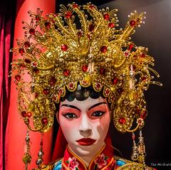 2019 - Singapore - Chinatown Heritage Centre - 3 of 3 (Ted's photos - Returns Apr 24) Tags: 2019 cropped nikon nikond750 nikonfx singapore tedmcgrath tedsphotos vignetting red redrule headdress tiara manequin chinatownheritagecentre singaporechinatownheritagecentre face lipstick head