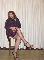 checkered dress (Barb78ara) Tags: dress checkereddress stockings stockingtops fishnets fishnetsstockings redstockingtops stilettoheels stilettohighheels stilettosandals sandals sandalettes redtoes paintednails paintedtoes fakenails silvernails nylon nylons nylonstockings fishnetstockings