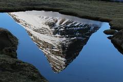 Peak peek (hó) Tags: kirkjufell snæfellsnes iceland peak reflection pond water mountain march 2019 winter blue