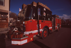 Engine 91 - Chicago Fire Department (Jovan Jimenez) Tags: engine 91 chicago fire department canon eos rebel t2 tokina 1116mm fujichrome velvia 50 film truck 300x kiss7 analog analogue fujifilm fujicolor slide transparency