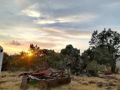 sunset in the field (Youngbloodart) Tags: sunset field sky blue freedays
