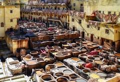 Curtiduría Chouwara (Neverlan) Tags: viaje neverlan cuero marruecos fez fes curtiduría