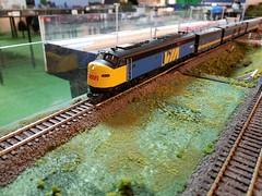 VIA 1800 (Trains By Perry) Tags: hoscale ho hotrak feb2019 setup via viarailcanada