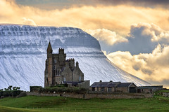 """Classiebawn Castle of Mullaghmore"" (Gareth Wray - 12 Million Views, Thank You) Tags: classiebawn castle mullaghmore valley benbulben ben bulben county sligo mountain snowcapped snow capped winter frozen 2019 hill cliff landscape scape donegal ireland irish rocks nature natural tourist site summer visit nikon d810 gareth wray photography sky nikkor 150500mm sigma zoom lens sun photographer mountains walk heather stack table top dartry benbulbin grange day vacation country house manor lord mountbatten cliffoney holiday europe bulbin wild atlantic way route sunset lands scenic cliffony"