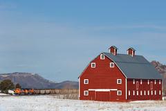 BNSF 8580 Greenland 2 Feb 19 (AK Ween) Tags: bnsf bnsf8580 end sd70ace greenland colorado jointline train railroad barn