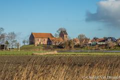 Kerkje van Ezinge (Chantal van Breugel) Tags: landschap cursuslandschapsfotografie frbfotografie kerk ezinge groningen wierde februari 2019 canon5dmark111 canon24105