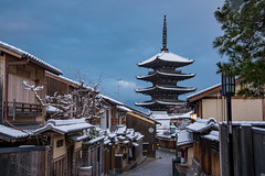 法観寺1・Hokanji Temple (anglo10) Tags: japan kyoto 京都府 東山 清水 雪 snow 建築物 architecture 寺院 temple 法観寺