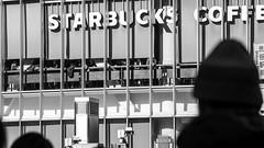 A Distant Star (Leifdux) Tags: shibuya crossing starbucks coffee silhouette station tokyo japan blackandwhite