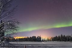 """Nuit nordique"" (Nicolas Luginbühl) Tags: luosto finland lapland auroraborealis winter landscape snow northernlights"