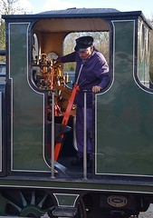 Through the Keyhole (pnb511) Tags: nenevalleyrailway heritage trains steam preserved wansford loco locomotive cab detail driver martello 060 tankengine