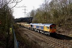 66775  Beighton (GC bridge) 15 Mar 19 (doughnut14) Tags: 66775 rail freight diesel loco f231 gbrf cliffehill studfarm stone beighton midland oldroad cum shed class66 frigate hmsargyll duke type23