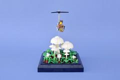 Lego flying lilliputian - atana studio (Anthony SÉJOURNÉ) Tags: lego insect mushrooms brick afol moc creator atana studio anthony séjourné