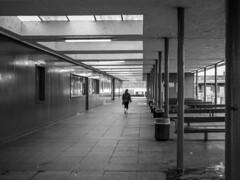 Crewe Bus Station (Charliebubbles) Tags: olympusem5mkii panasoniclumixg20mmf17asph cheshire crewe crewebusgarage architecture blackandwhite documentary history mono 2019 unitedkingdom
