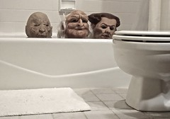 Rub A Dub Dub - Three Men in a Tub (ricko) Tags: bathroom bathtub toilet masks heads werehere 21365 2019
