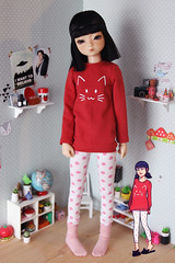 Tigerlou. (icantdance) Tags: elfdoll elfdolltwiggy icantdance tigerlou cat dollclothes msd bjd bjddoll