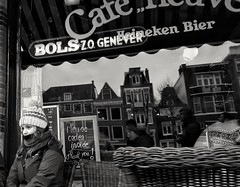 Amsterdam (puliMexNed) Tags: girl amsterdam drinks cafe blackwhite streetphotography
