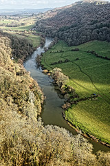 River Wye (Geoff Henson) Tags: river water meander hills fields trees view viewpoint vista england wales symondsyat gloucestershire