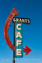 Grants Cafe Sign in Grants, New Mexico, along Historic Route 66 (Lee Rentz) Tags: 1930s america cibolacounty dustbowl getyourkicksonroute66 grants grantscafe historicroute66 mainstreetofamerica newmexico northamerica route99 usroute66 us66 willrogershighway americanwest americana arrow closed diner highway historic historical history icon iconic memories memory nationalscenicbyway neon nostalgia nostalgic old past redarrow reminiscence restaurant road roadtrip sentiment sentimental sign signage themotherroad thewest time transportation usa vertical weathered
