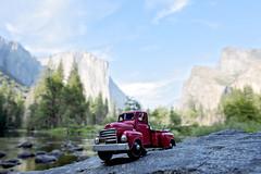 oh captain, my captain (s.f.p.) Tags: el capitan yosemite national park mountain range car truck toy red usa california mariposa valley travel landmark famous