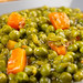 Cooked Green Peas with Carrots