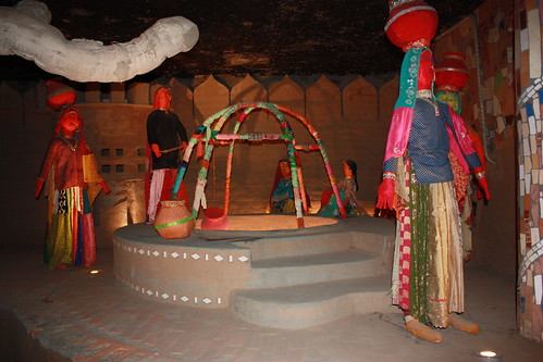 Nek Chand's garden - a village made from cloth scraps