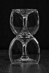 Wine Glasses - Wijnglazen (schreudermja) Tags: wijn wine glass glasses clear seethrough naked bw monochrome martyschreuder nikond800e nederland thenetherlands macro closeup upsidedown ondersteboven twins twin sbs sidebyside art kunst tweeling twee drinken drinks home thuis everyday
