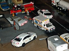 Wreck 1/6/2018 (THE RANGE PRODUCTIONS) Tags: johnnylightning walthers boley athearn tractortrailer trucksnstuff matchbox ertl hoscalefigures 164scale dioramas diecast diecastdioramas ambulance ford fordpoliceinterceptorutility fordpoliceinterceptor fordf250 international pumper propanetruck 1980pontiacbonneville fordcrownvictoriapoliceinterceptor 187 display toy model layout accident wreck