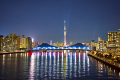 View to Tokyo Skytree-4 (Thomas Cheung Bus Photography) Tags: sony a7iii a7m3 ilcea7iii a73 tokyoskytree river bridge nightscape lights star sky landscape