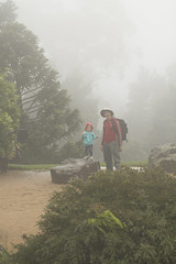 (louisa_catlover) Tags: mttomahbotanicgardens botanicgarden mounttomah royalbotanicgardenmounttomah bluemountains nsw australia summer rainy misty wet outdoor nature foggy portrait family child toddler daughter tabitha tabby father husband karl